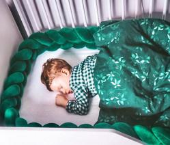 Protectie impletita Velvet Bottle Green