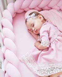 Protectie impletita Velvet Powder Pink Woven