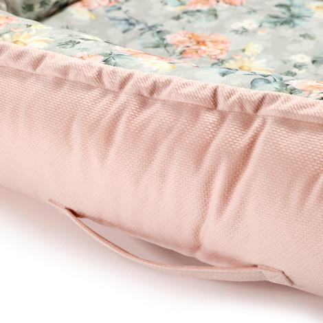 Imagine Baby Nest Velvet - Blooming Boutique - Powder Pink
