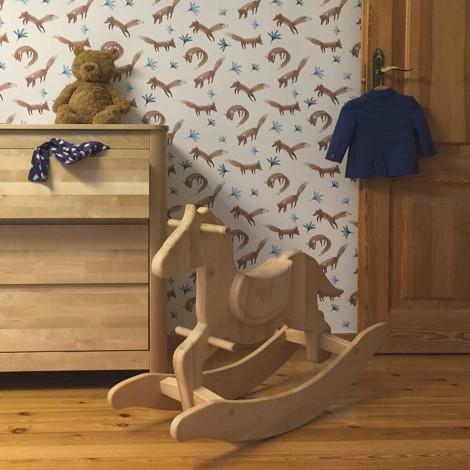 Imagine Calut din lemn Balansoar