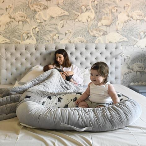 Imagine Baby Nest Velvet - Boho Royal Arrows - Dark Grey