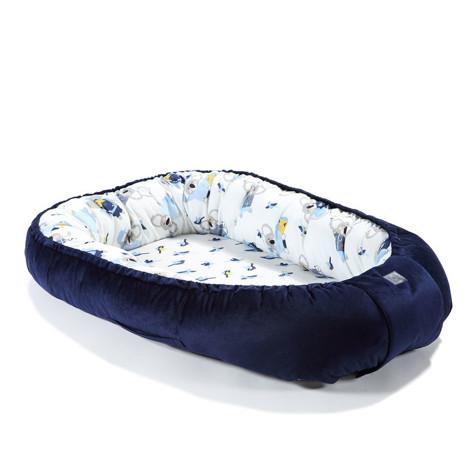 Imagine Baby Nest Velvet - Royal Navy