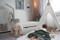 Imagine Patura 110x140 (2 fețe) Catifea si Bumbac- I love Panda - Pure mint