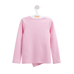 Bluza bumbac fetite Roz pal