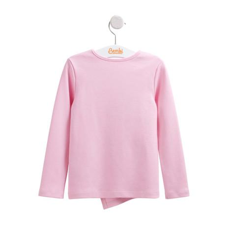 Bluza bumbac fetite Roz F2