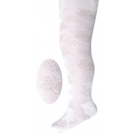Ciorapi fetite albi cu model F1