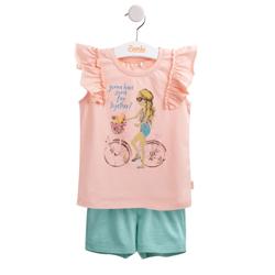 """Compleu de vara """"Bicycle girl"""" roz F1"""