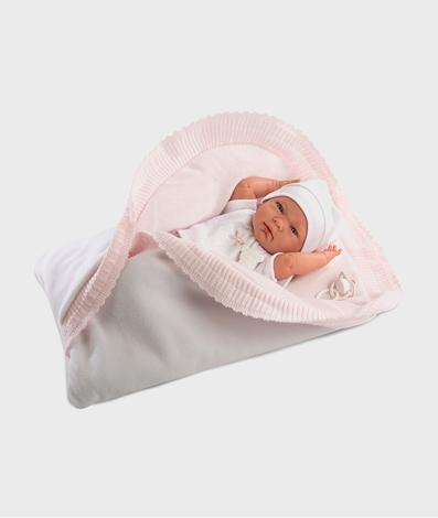 Imagine Papusa NICA, cu paturica roz