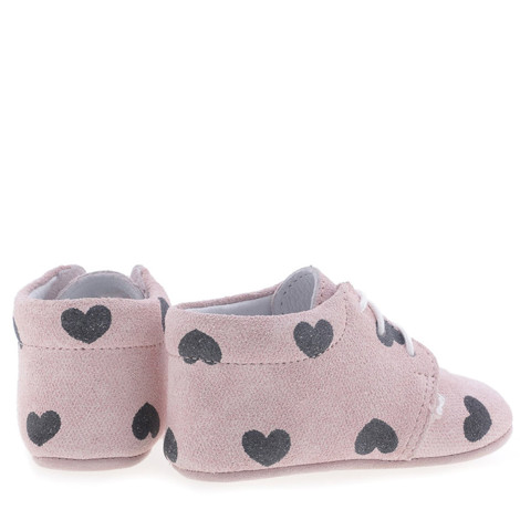 Incaltaminte Bebelusi First Steps roz cu inimioare F2