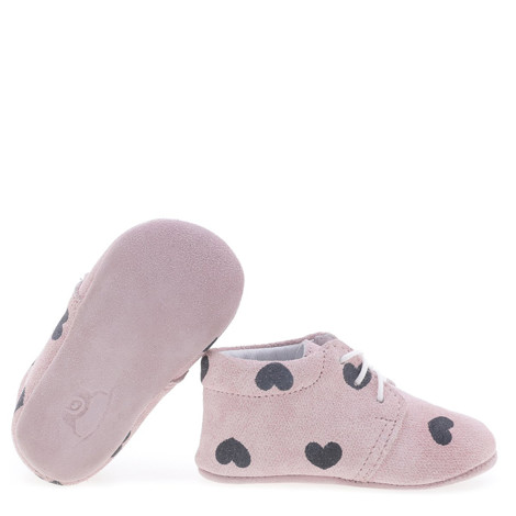 Incaltaminte Bebelusi First Steps roz cu inimioare F3