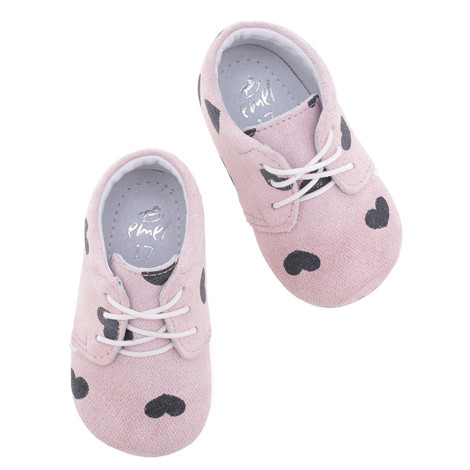 Incaltaminte Bebelusi First Steps roz cu inimioare F4