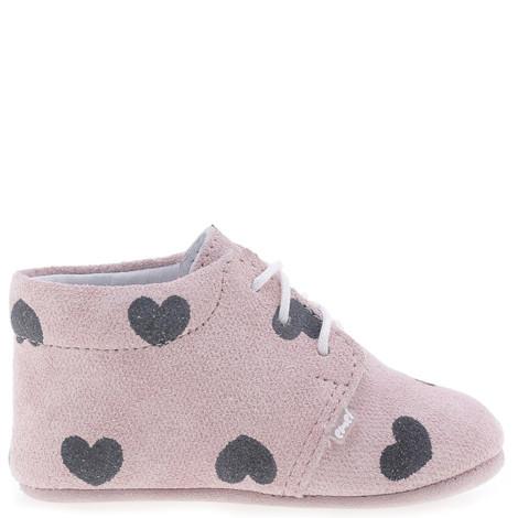 Incaltaminte Bebelusi First Steps roz cu inimioare F5