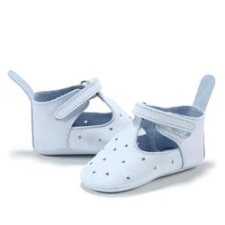 Moonie's - Papucei de piele pentru bebelusi Bleu F1