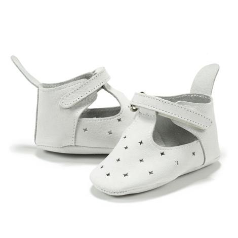 Moonie's - Papucei de piele pentru bebelusi Gri F1