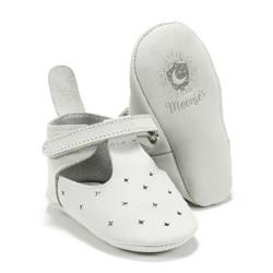 Moonie's - Papucei de piele pentru bebelusi - Gri