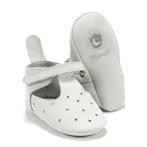Moonie's - Papucei de piele pentru bebelusi Gri F2