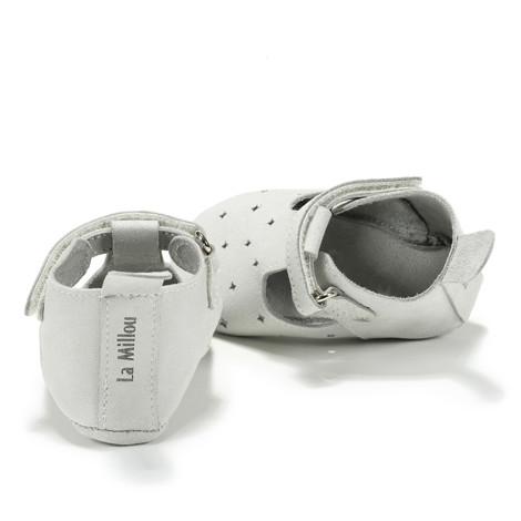 Moonie's - Papucei de piele pentru bebelusi Gri F3