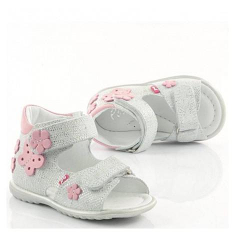 Sandale ortopedice din piele - handmade - EMEL alb F2