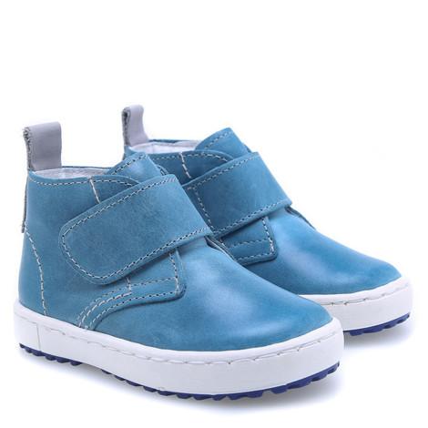 Incaltaminte din piele - handmade - Emel albastru F1