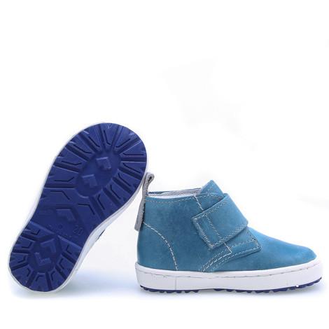 Incaltaminte din piele - handmade - Emel albastru F2