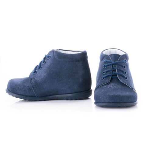 Incaltaminte din piele - handmade - Emel bleumarin F2