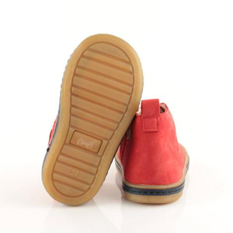 Incaltaminte din piele - handmade - Emel rosu F6