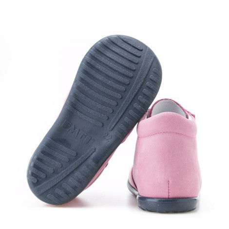 Incaltaminte din piele - handmade - Emel roz cu bleumarin F7
