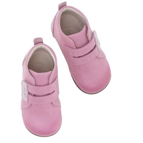 Incaltaminte din piele - handmade - Emel roz inchis F5