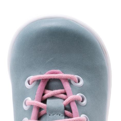 Pantofi din piele - Handmade - Emel verde cu roz F4