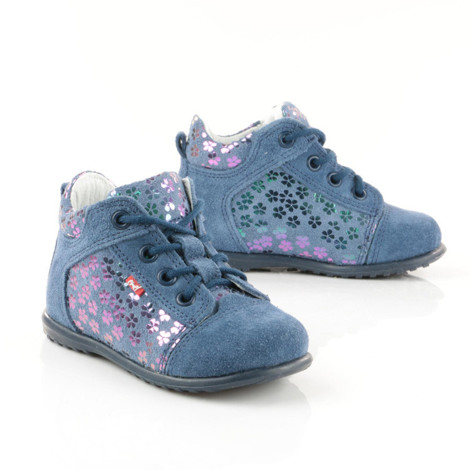 Pantofi din piele - Handmade - Emel albastri F1