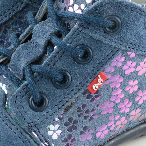 Pantofi din piele - Handmade - Emel albastri F2