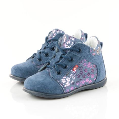 Pantofi din piele - Handmade - Emel albastri F3