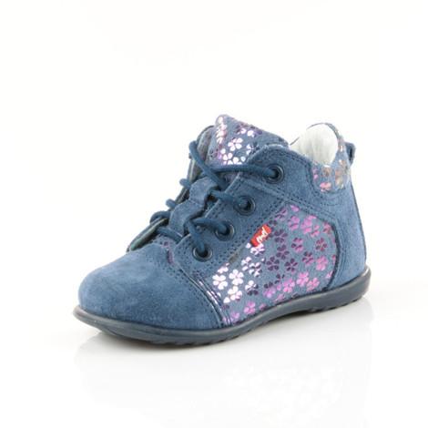 Pantofi din piele - Handmade - Emel albastri F4