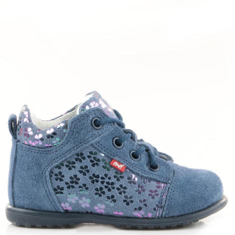 Pantofi din piele - Handmade - Emel albastri F6