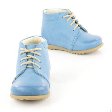 Pantofi din piele - Handmade - Emel bleu F1