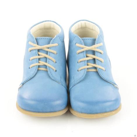 Pantofi din piele - Handmade - Emel bleu F2
