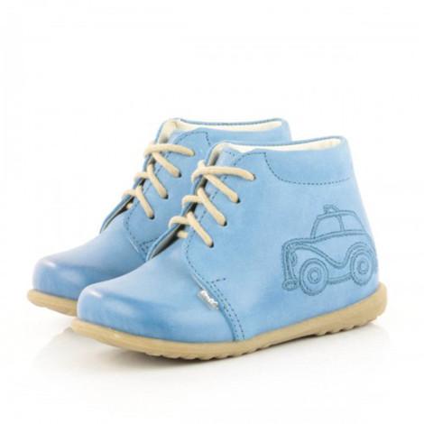 Pantofi din piele - Handmade - Emel bleu F3