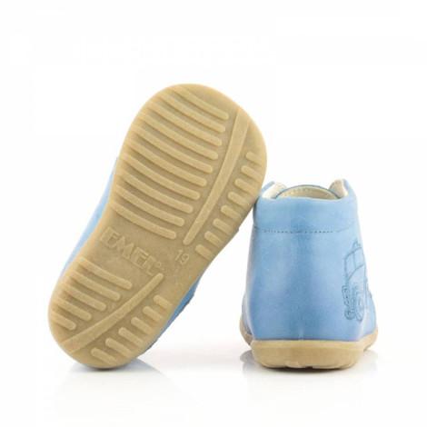 Pantofi din piele - Handmade - Emel bleu F4