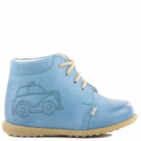 Pantofi din piele - Handmade - Emel bleu F5