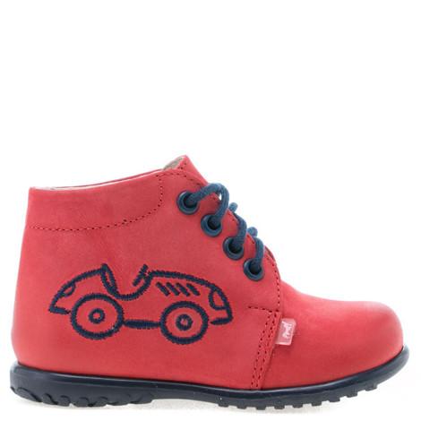 Pantofi din piele - handmade - EMEL rosu F2