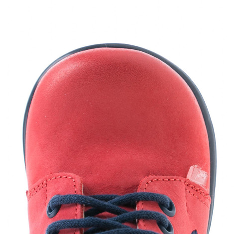 Pantofi din piele - handmade - EMEL rosu F3