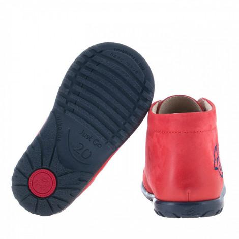 Pantofi din piele - handmade - EMEL rosu F4