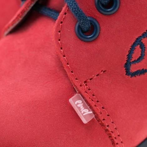 Pantofi din piele - handmade - EMEL rosu F7