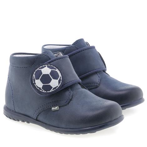 Pantofi din piele - handmade - EMEL bleumarin F1