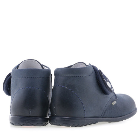Pantofi din piele - handmade - EMEL bleumarin F2