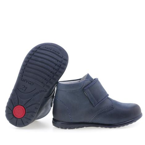 Pantofi din piele - handmade - EMEL bleumarin F3