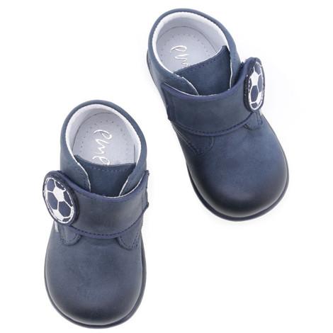 Pantofi din piele - handmade - EMEL bleumarin F4