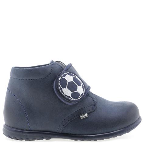 Pantofi din piele - handmade - EMEL bleumarin F5