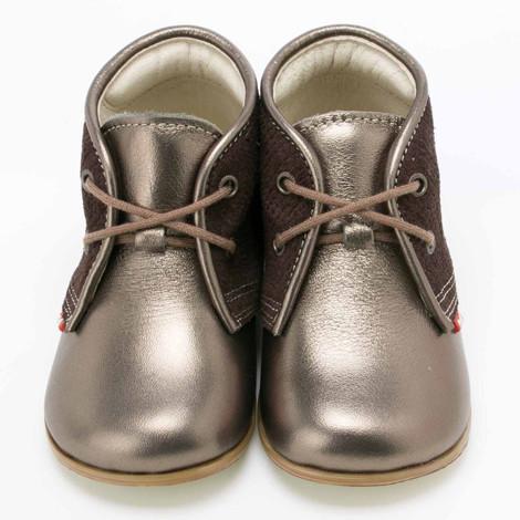 Pantofi Ortopedici din Piele Emel - Handmade maro F2