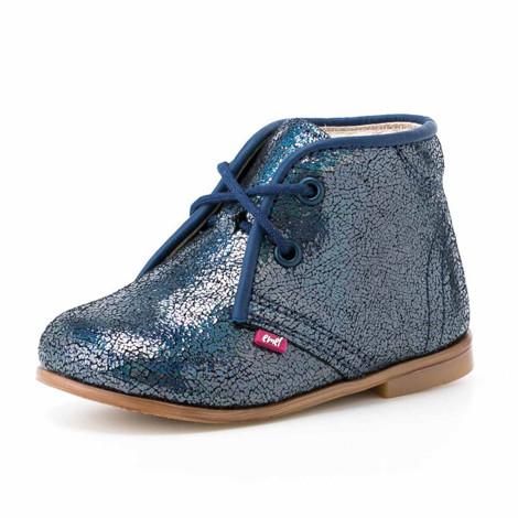 Pantofi Ortopedici din Piele Emel - Handmade albastru F1